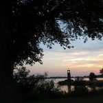 Sunset photo at Scout Park lighthouse