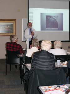 Cardiologist, Dr. Peacock, speaks at a Lunch and Learn.