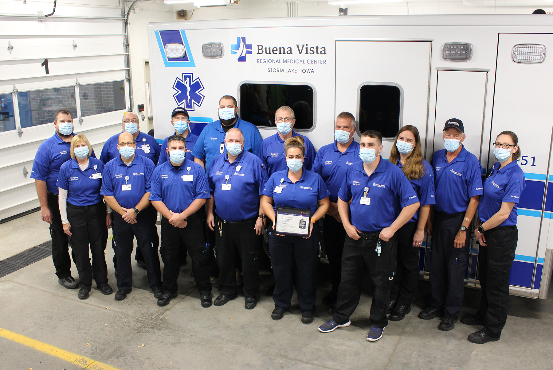BVRMC Receives American Heart Association's Mission: Lifeline EMS Silver Plus Recognition Award.